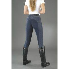 Kinder-Reithose Jeans DENIM Vollbesatz, Gr. 140