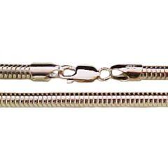 70 cm Schlangenkette - 5 mm - 925 Silber
