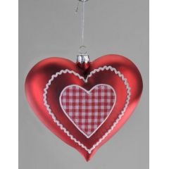 Fensterschmuck Herz rot