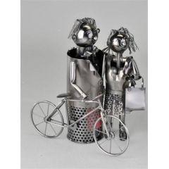 Flaschenhalter Paar mit Fahrrad