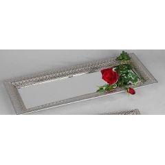 Romantik Tablett länglich silber
