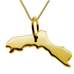 KURDISTAN Kettenanhänger aus massiv 585 Gelbgold mit Halskette