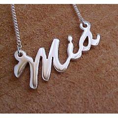 Namenskette - IHR Wunschname bis 4 Buchstaben, 925 Silber