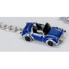 Schlüsselanhänger Cabrio, blau, 6 cm