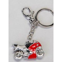 Schlüsselanhänger Motorrad, rot, 6 cm