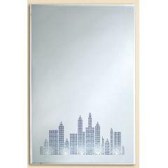 GILDE Wandbild Spiegel mit LED Beleuchtung, 40 x 60 cm