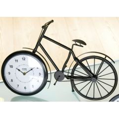 Tischuhr Fahrrad mit weißem Zifferblatt, gerader Lenker, 50 cm