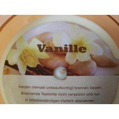 Duftkerze im Glas - Vanille