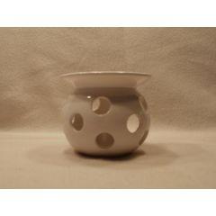 Weiße Keramik-Duftlampe, 11 cm