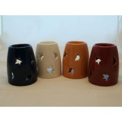 Duftlampe aus Keramik, Sonne-Mond-Sterne