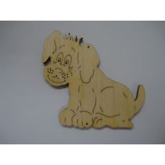 Holz Kleinteile gelasert Hund