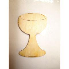 Holz Kleinteile gelasert Weinglas, Kelch