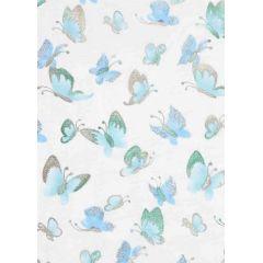 CREApop®Deko-Stoff Butterfly türkis-metallic