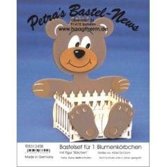 Teddy mit Korb Holz Bausatz