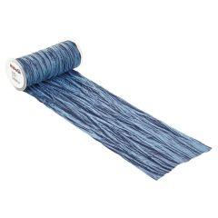 CREApop® Fripe Dekoband 20 cm x 10 m, dunkelblau
