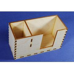 Zettelbox mit Stiftehalter
