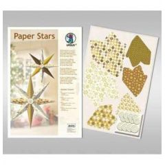 Paper Stars in gold Golden Charm