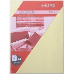 S-line A6 Karte, passendes Kuvert und Briefbogen je 5 Stück - mais (hellgelb)