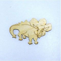 DINOSAURIER Triceratops  aus Holz