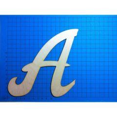 ABC Holz Großbuchstaben Schreibschrift 150mm natur