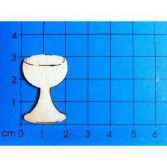 Holz Kleinteile gelasert Weinglas, Kelch ab 30mm - 80mm
