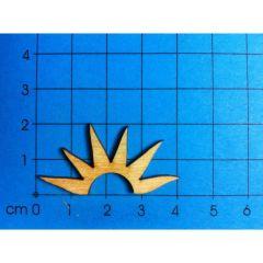 Holz Kleinteile gelasert Sonne; 40; 50 ODER 60MM