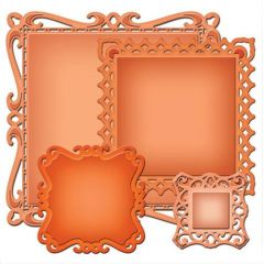 Spellbinders 4 Stanzformen Nestabilites Captivating Squares S4-414
