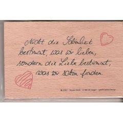 Poesie Stempel  Nicht die Schönheit..