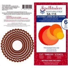 Spellbinders 6 Stanzformen Nestabilites Petite Scalloped Circles large S4-115
