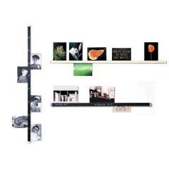 Clip Rail - Messlatte, Klemmleiste für Fotos, Karten... beschriftbar