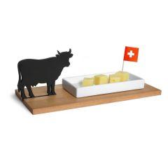 Käseschale Kuh - Dippschale für Käsewürfel, Brotaufstriche und Eingelegtes