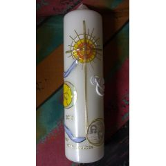 Kerze Alpha Omega - handgearbeitet eigene Herstellung