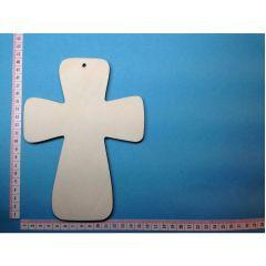 Kreuz breit; 200 mm hoch mit Loch, 5 mm