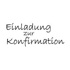 """Stempel """"Einladung zur Konfirmation"""""""