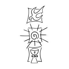Stempel 'Taube, Sonne, Kelch'
