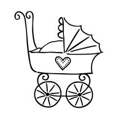 Motivstempel Kinderwagen