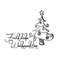 Stempel 'Fröhliche Weihnachten'