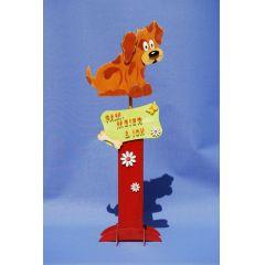 Hund Bastel-Set -Leibgarde- Figur für Holzsäule