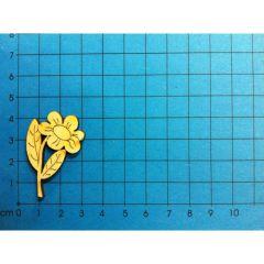 Blume mit Blättern und Stängel 40 mm