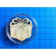 Päckchen mit Schleife 30mm in Dose 7 Stück