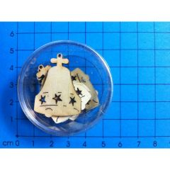 Weihnachtsglocke 30mm 6 Stück in Dose