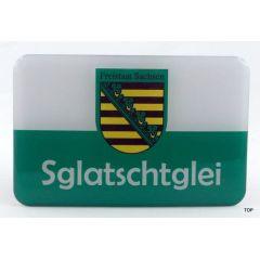 Magnet Sachsen Kühlschrankmagnet Sglatschglei Ostprodukt Ossi Spruch Geschenkidee für jeden Sachsen Auto