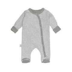 Bodysuits, einzeln grau+gestreift 50/56