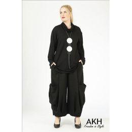Lagenlook Hose schwarz AKH Fashion