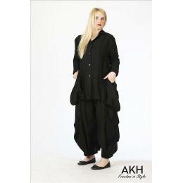 AKH Fashion Lagenlook Jacke aus Leinen