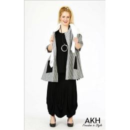 AKH Fashion - Lagenlook Rock gerafft