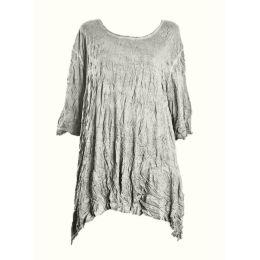 Barbara Speer Shirt leinen Lagenlook geknittert