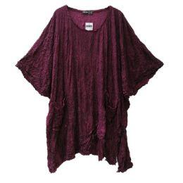 Barbara Speer Shirt lila Lagenlook XL
