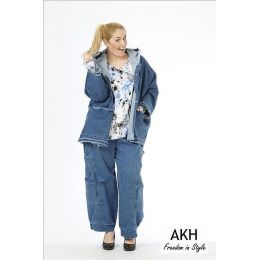 AKH Fashion Lagenlook Hose Used Look