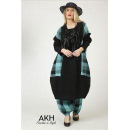 Lagenlook Leinen-Kleid AKH Fashion